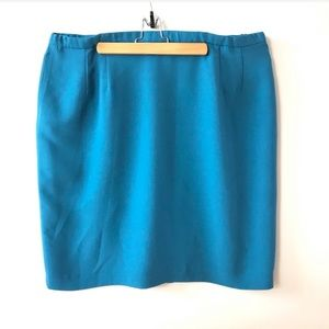 PENDELTON Pencil Skirt Blue 24W